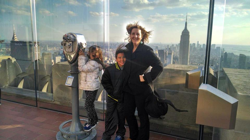Pam, Angela and Josh atop 30 Rock. The only disappointment was not meeting Tina Fey in the elevator on the way down.
